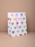 White heart print gift bag (Code 2449)